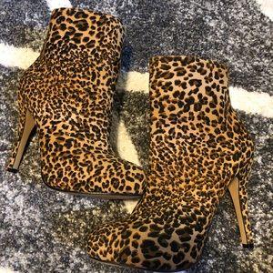 Cheetah boots/ booties